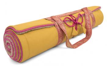 Holistic Silk Yogamatte Saffron